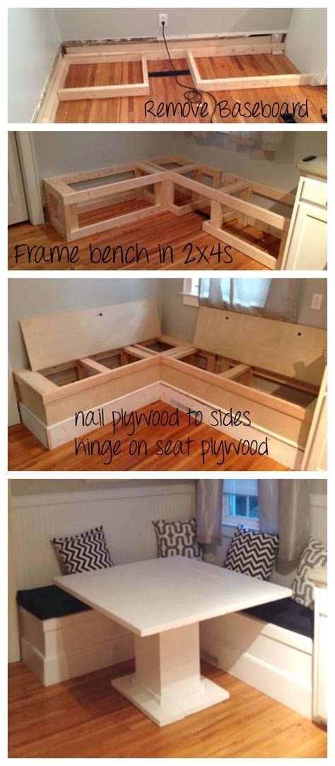 diy kitchen bench with storage best 20 diy home decor ideas on pinterest