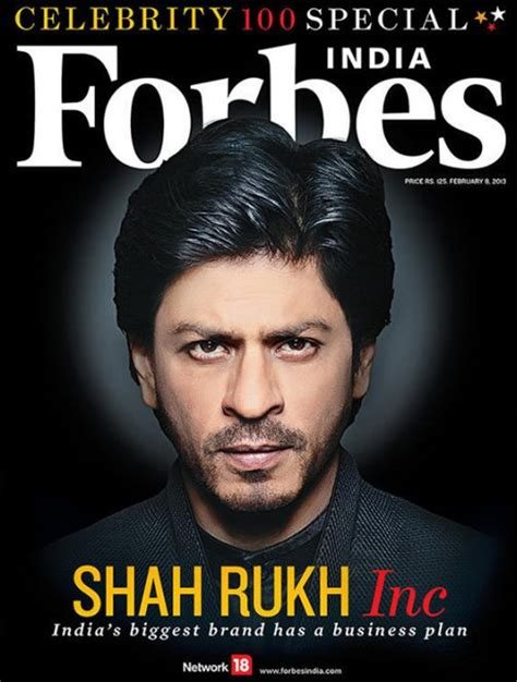 forbes india 100 shah rukh khan leads indian express