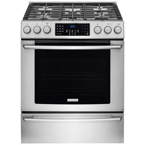 Home Depot Gas Ranges by Electrolux Iq Touch 4 5 Cu Ft Front Gas Range In Stainless Steel The Home Depot Canada