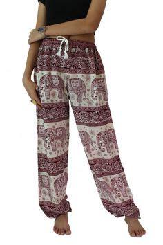loose yoga pants pattern bohemian pants hippie clothes peacock design elastic waist