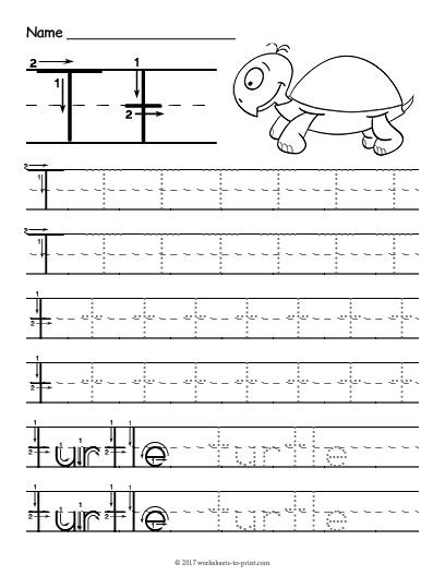 printable tracing letter t tracing letter t worksheet