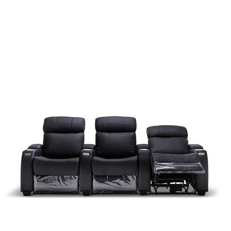 electric recliner lounge suite anna black leather electric recliner home theatre lounge
