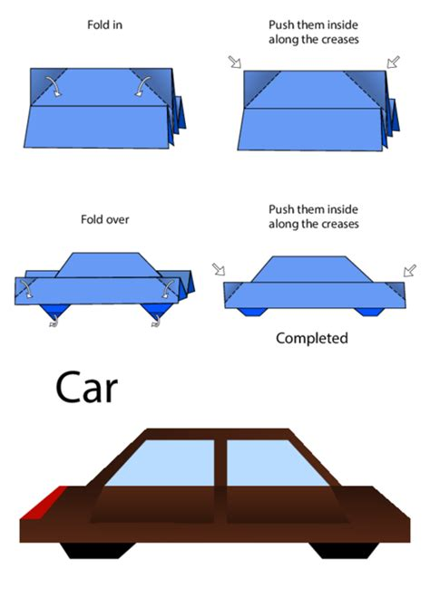 easy origami car easy origami car kidspressmagazine