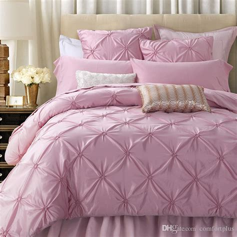 pink silk comforter luxury pink silk cotton bedding set handmade ruffle