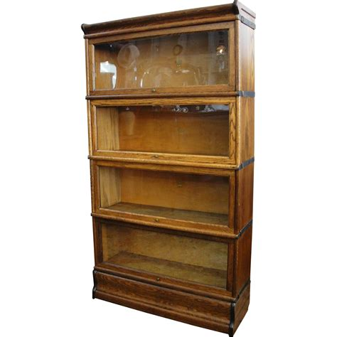Macey Bookcase Antique Macey Oak 4 Section Stacking Barrister Bookcase
