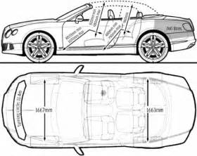 Bentley Continental Dimensions The Blueprints Blueprints Gt Cars Gt Bentley Gt Bentley