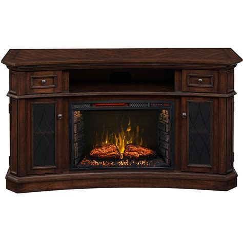 shop living 60 in w 5 200 btu walnut wood infrared