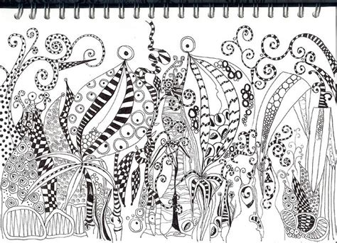 doodle jungle doodle jungle foliage by judy via flickr