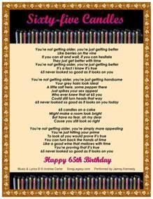 sixty five candles happy 65th birthday original sixty