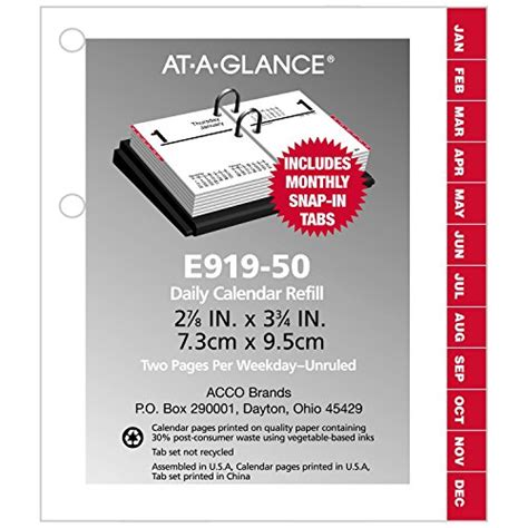 At A Glance Daily Desk Calendar Refill at a glance daily desk calendar refill 2017 compact 2 7