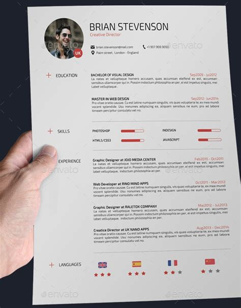 Resume Sample References by 22 Templates De Cv Sur Photoshop