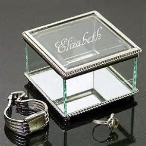 Personalized glass jewelry box engraved jewelry box