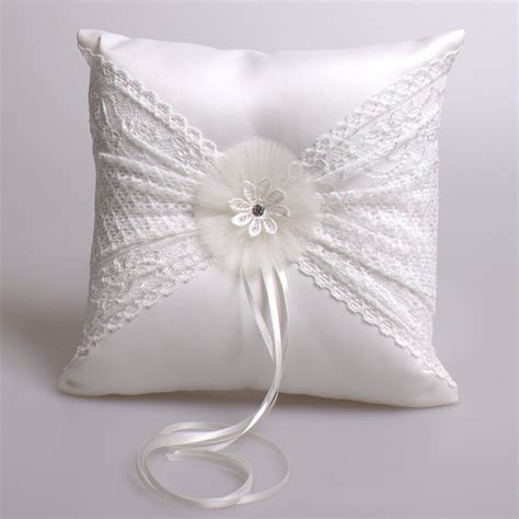 Handmade Ring Bearer Pillow - wedding ring pillow 21cm satin ring cushion handmade cheap