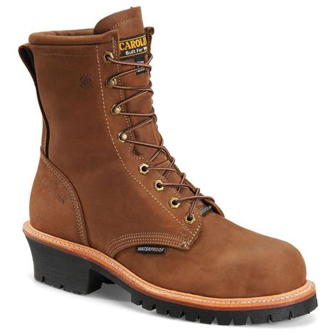 carolina steel toe work boots s carolina 174 8 quot domestic steel toe waterproof logger