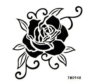 best waterproof tattoo sticker black and white rose body