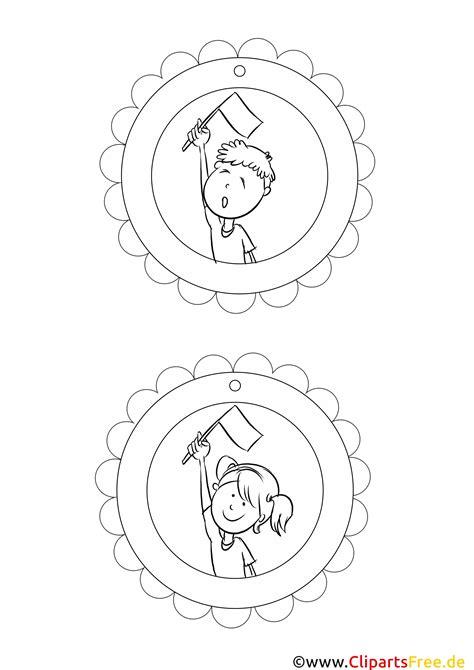 auszeichnung medaille vorlage zum malen drucken