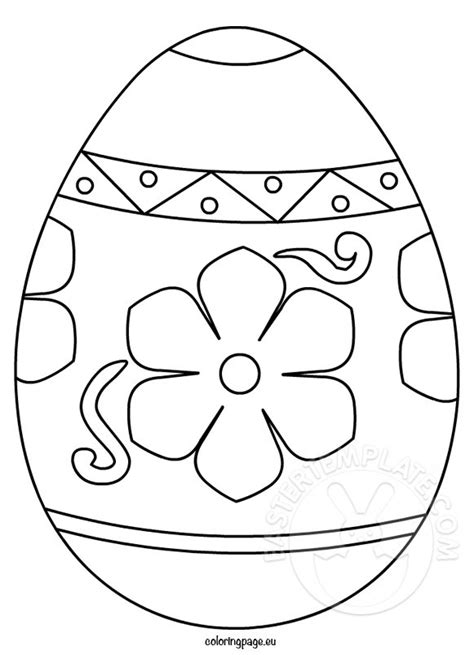 ornate easter egg coloring page easter template