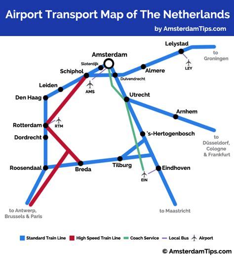 netherlands rail network map airport rail transport network map schiphol rotterdam