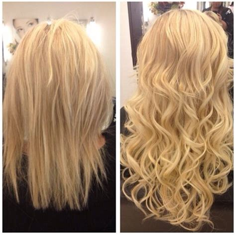 Blonde locks hair extensions before and after long hair don t care be fab hair the long