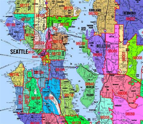 seattle map with zip codes seattle zip code map my