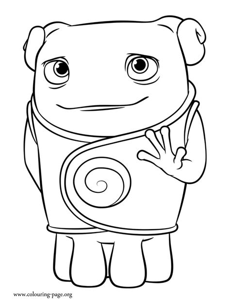 Home Coloring Page Free Oh From Dreamworks Home Coloring Pages