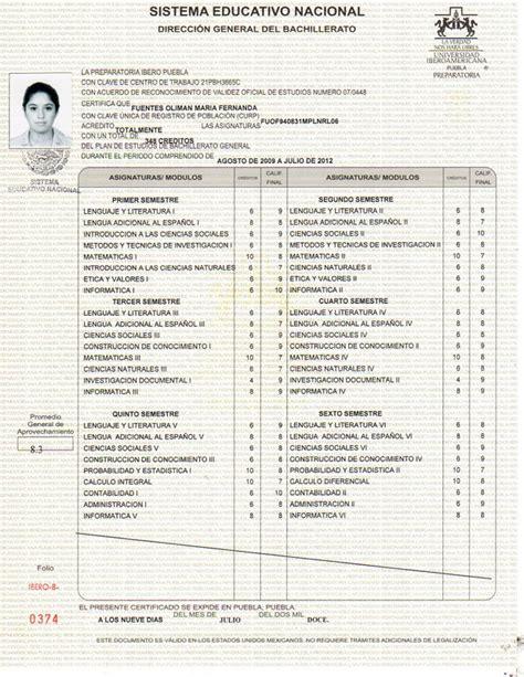 certificado de preparatoria certificado de preparatoria formaci 243 n acad 233 mica maria fernanda fuentes oliman