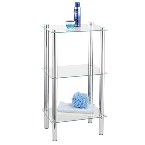 three tier bathroom shelf wenko yago household and bath 3 tier shelf chrome