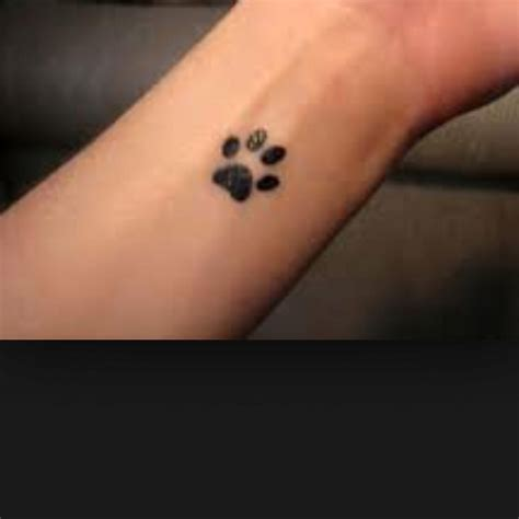 dog paw print tattoo on wrist paw print tattoos
