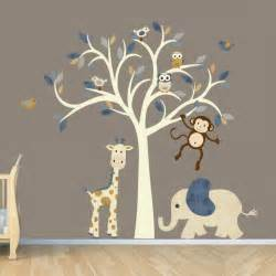 Animal Wall Decals For Nursery Baby Nursery Animal Zoo Nursery Wall Decal Vinyl Wall Jungle Wall Intended For Baby