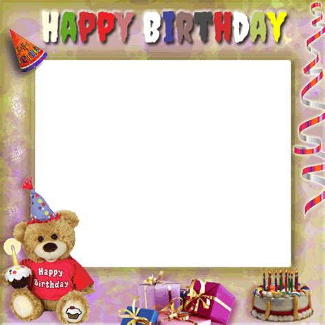 Frame Foto Teddy create your birthday photo frame with teddy and gifts