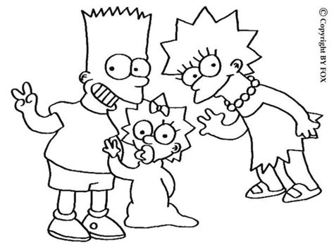 lisa maggie and bart simpsons coloring pages hellokids com
