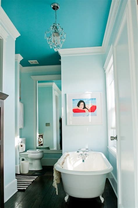 Blue Paint Bathroom by Benjamin Peacock Blue Bathroom Ceiling Paint