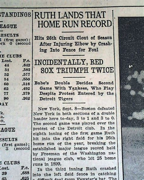 early ruth home run record rarenewspapers
