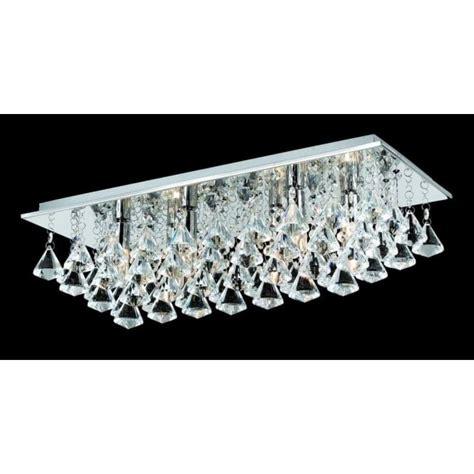 ls plus flush mount lights impex parma chrome 6 lt rectangle flush ceiling light at