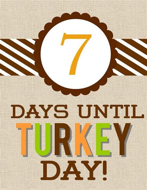 days before day 7 days until turkey day access business centers