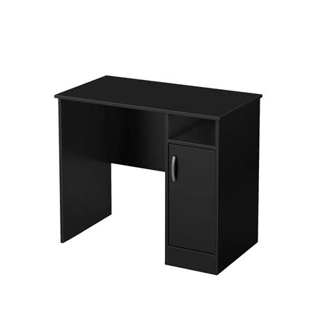 Small Work Desks South Shore Freeport Small Work Desk In Black The Home Depot Canada