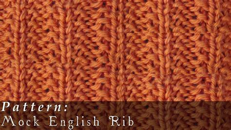 what is ribbing in knitting mock rib knit easy