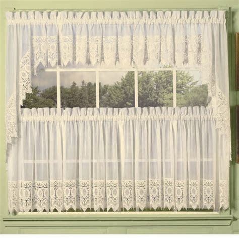 Lace Curtains For Kitchen Ecru Diana Macrame Lace Tailored Curtain Altmeyer S Bedbathhome