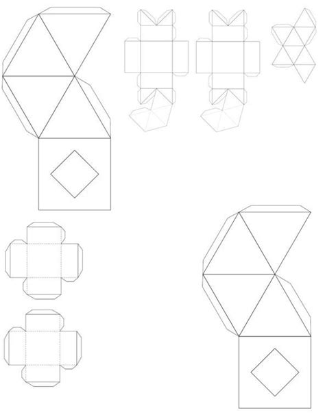 cube box template paper cube box template pictures to pin on
