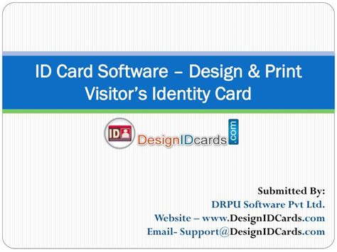 id card printing design software ppt id card software design print visitor s identity