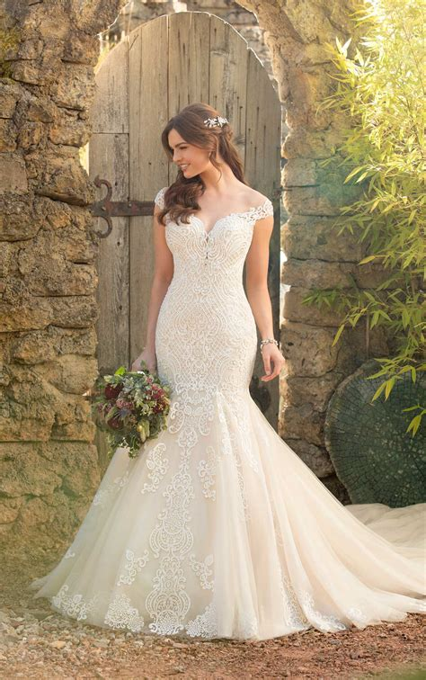 beadwork gown mermaid wedding dress with rich beadwork of