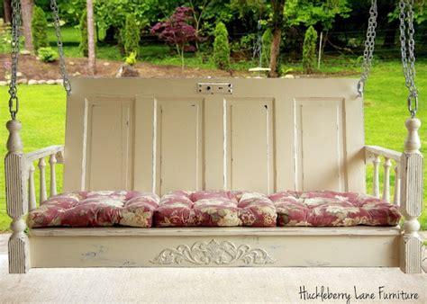 door porch swing salvaged door used to make porch swing diy crafts