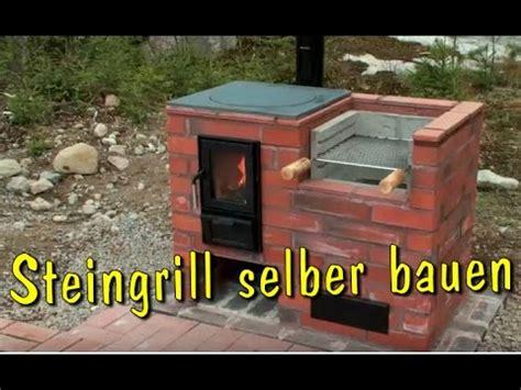 grill selber bauen aus stein steingrill kamin aus