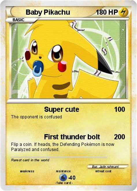 pok 233 mon baby pikachu 116 116 my card