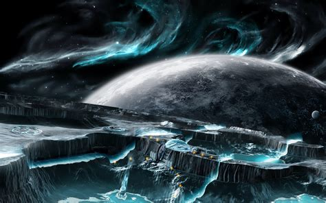 wallpaper abyss sci fi planet rise computer wallpapers desktop backgrounds
