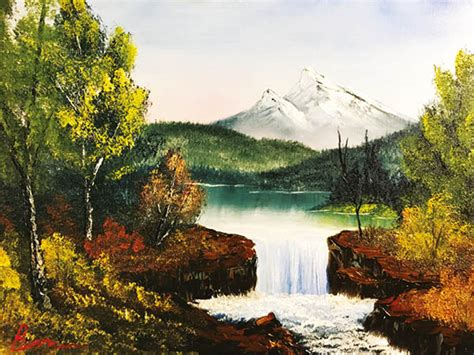 bob ross painting demo don t miss the november issue of artists illustrators