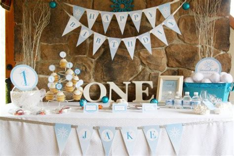 Themes For Baby Boy Birthday Party | winter onederland birthday party theme baby boy s first