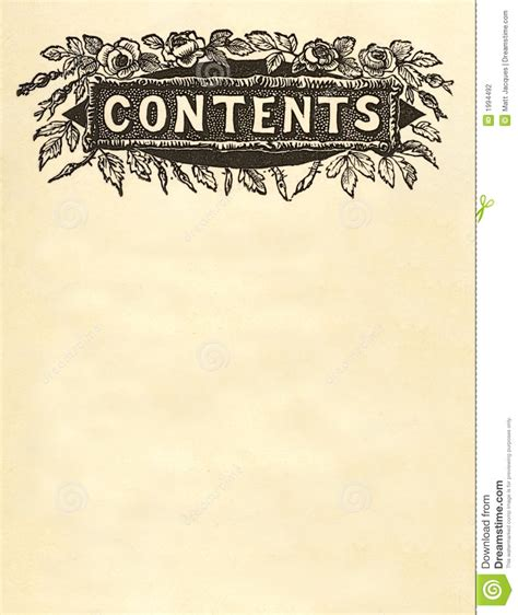 Design Plan by Contents Title Design Stock Photography Image 1994492