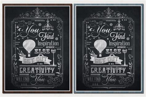 chalkboard typography tutorial photoshop creativity will find you typography chalkboard print 2