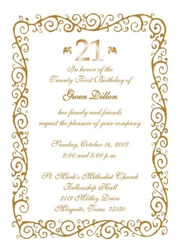21st birthday invitation card templates free 21st birthday invitation